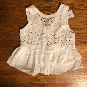Brand new with tags topshop white lace shirt